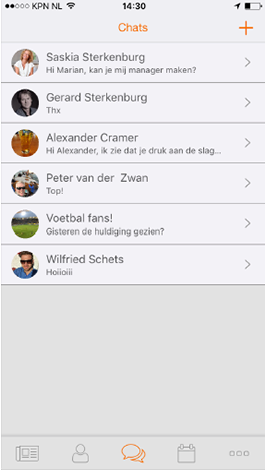 communicatie rooster horeca app